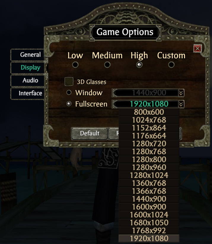 Game not working at 1080p Full Screen   Pirates Forums