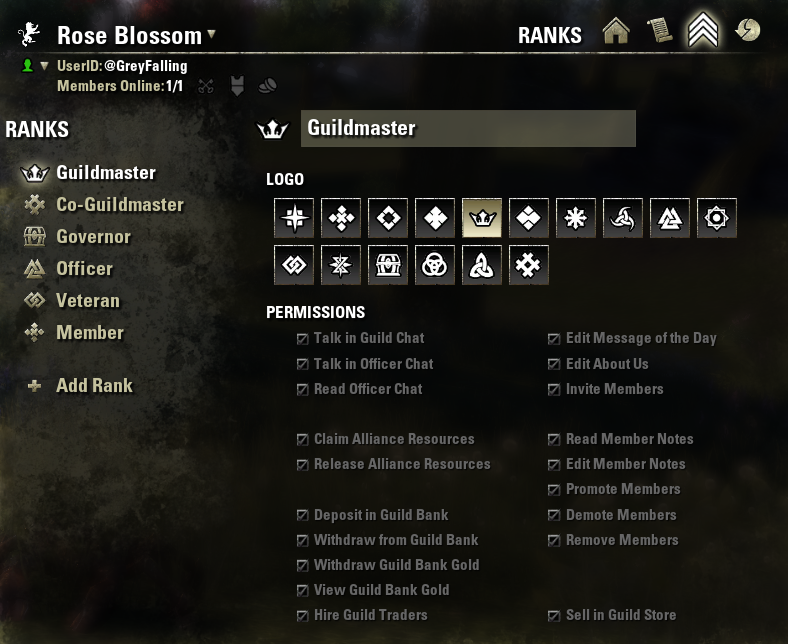Suggestion - TLOPO Guild Rank Customization | Pirates Forums